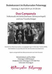 Kultursalon Flyer Campanula